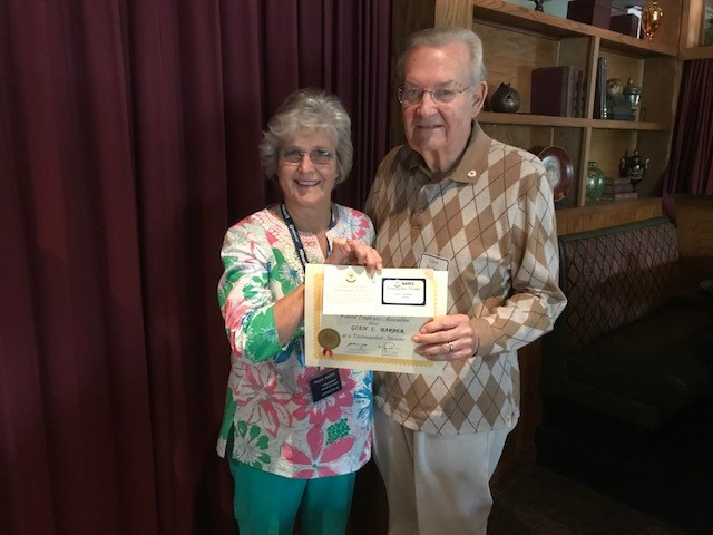 Pres. Paula Bayer & 2019 Dist. Member Glen Barber